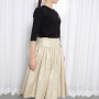 PURE PEACE SILK MIDI SKIRT SIDE
